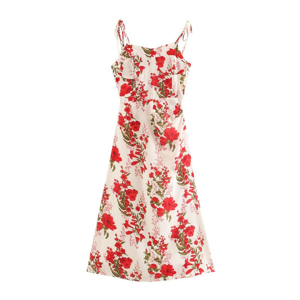 Floral Strapless Summer Party Dress S to L