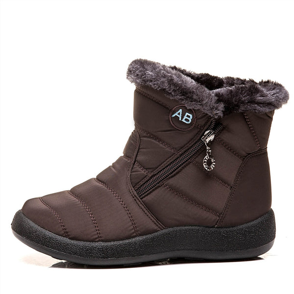 Winter Waterproof Fur Boots Size 35-43