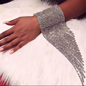 Rhinestone Hand Chain Party Bracelet