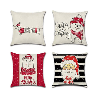 Christmas Santa Claus Cushion Covers 45cm x 45cm