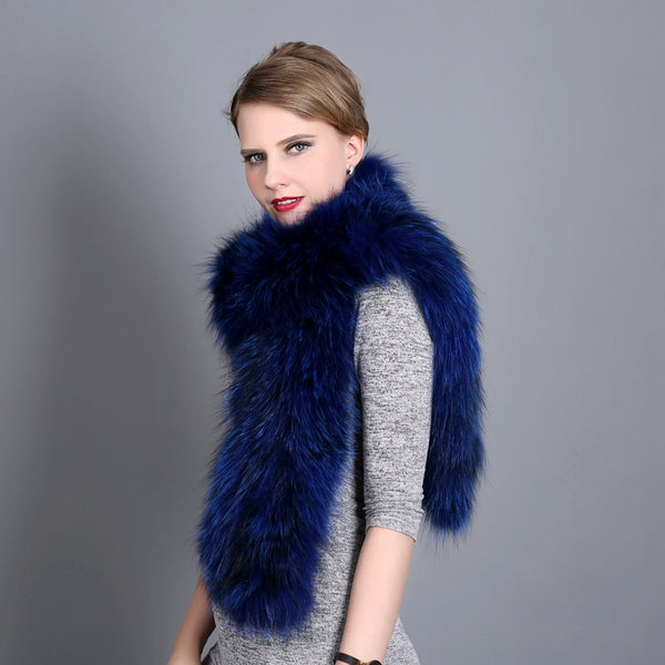 Winter Fox Fur Neckerchief Shawl  - Zaida Fashions