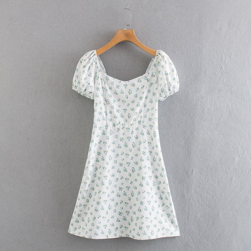 Summer White Short Sleeve Mini Dress S to L