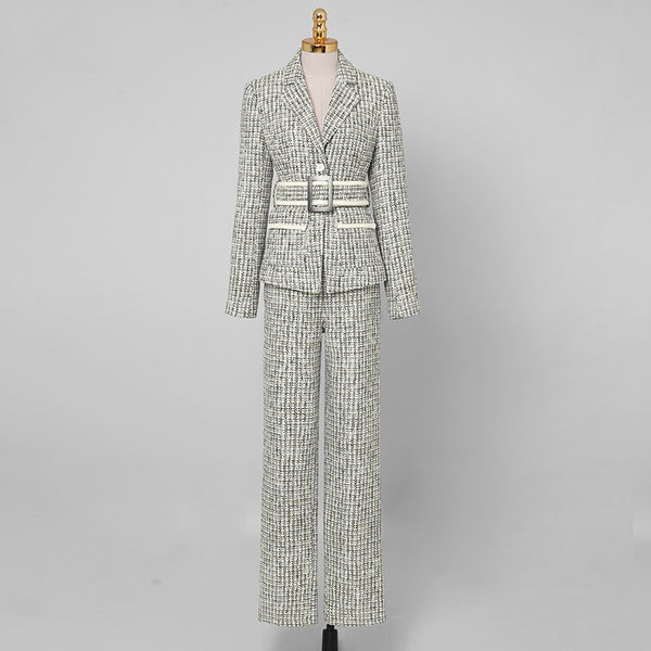 Grey Blazer Coat and Pants Sets S to XL