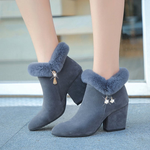Winter Ankle Fur Boots Size 35 to 43