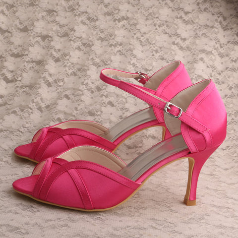 Rose Pink Wedding Shoes  - Zaida Fashions
