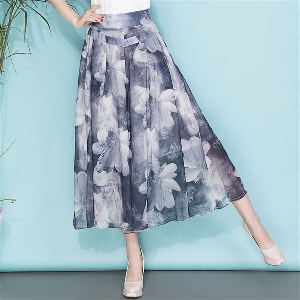 Plus Size Summer Wide Leg Loose Skirt Pants  - Zaida Fashions