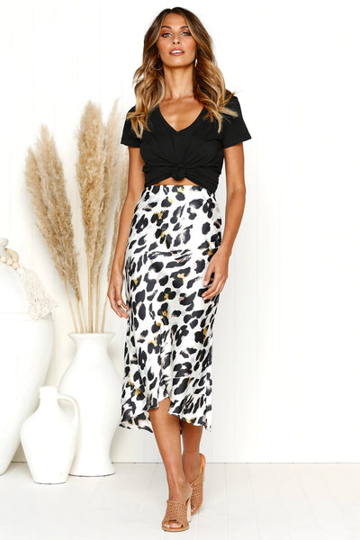 Leopard Pencil Skirt  - Zaida Fashions
