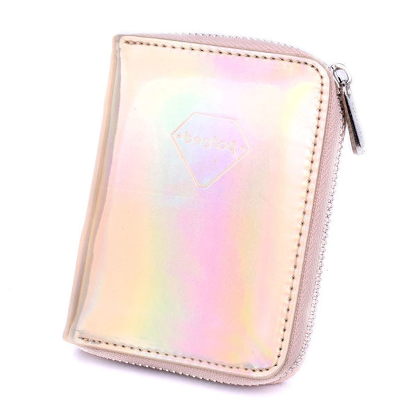 Holographic Short Wallet  - Zaida Fashions
