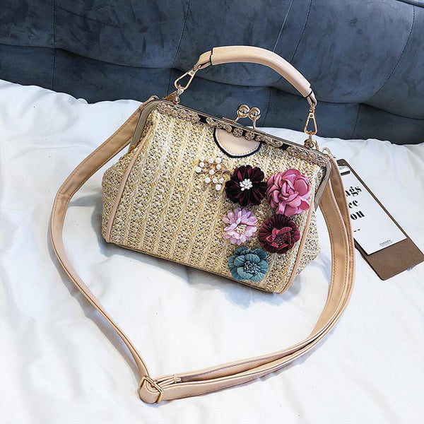 Summer Beach Casual Straw Handbags  - Zaida Fashions