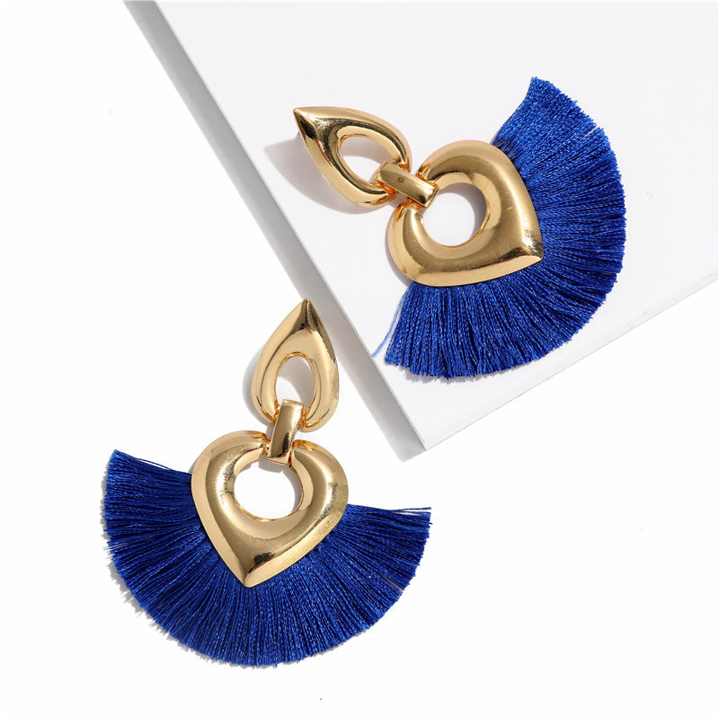 Tassel Big Fringe Earrings  - Zaida Fashions