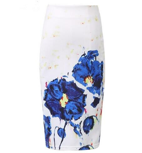 Fashion High Waist Bodycon Floral Pencil Skirts  - Zaida Fashions