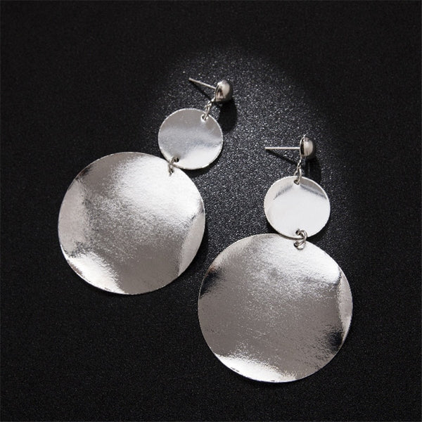 Vintage Metal Round Earrings  - Zaida Fashions