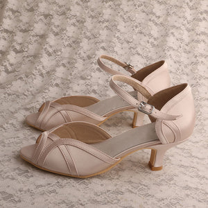 Apricot 5cm Heels Party Shoes  - Zaida Fashions
