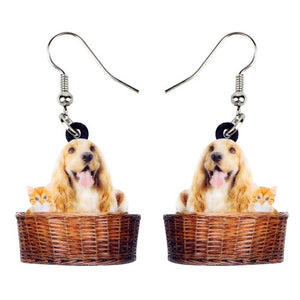 Golden Retriever Dog Earrings  - Zaida Fashions
