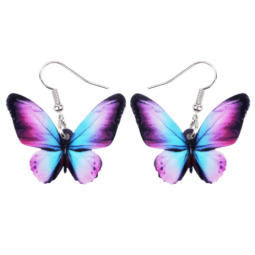 Colorful Butterfly Earrings  - Zaida Fashions