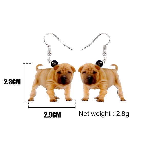Bulldog Puppy Dog Earrings  - Zaida Fashions