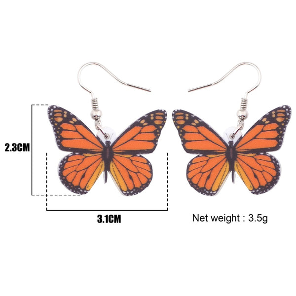 Long Butterfly Earrings For Women  - Zaida Fashions