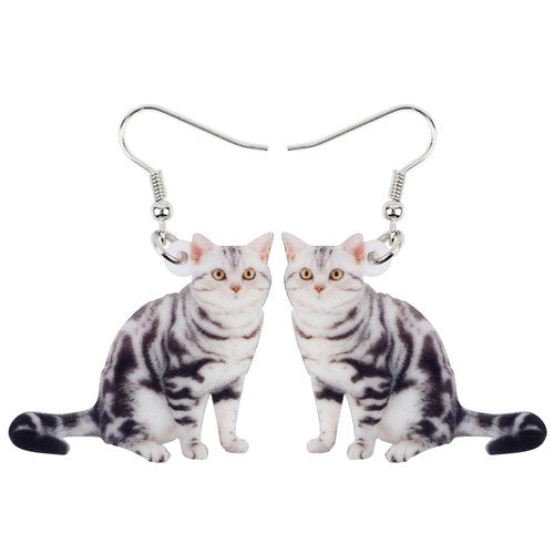 Lovely Cat  Drop Earrings  - Zaida Fashions