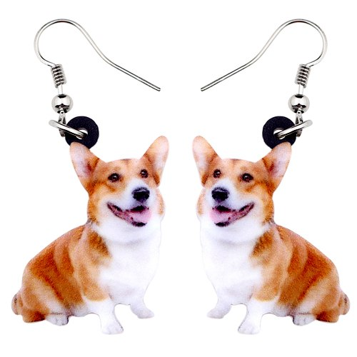 Welsh Corgi Pembroke Dog Earrings  - Zaida Fashions