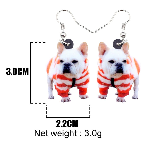 French Bulldog Terrier Dog Earrings  - Zaida Fashions