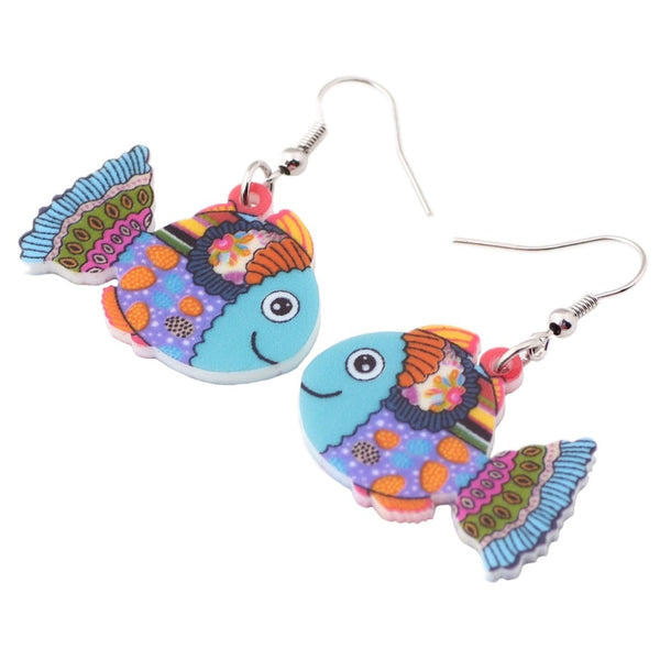 Adorable  Fish Earrings  - Zaida Fashions