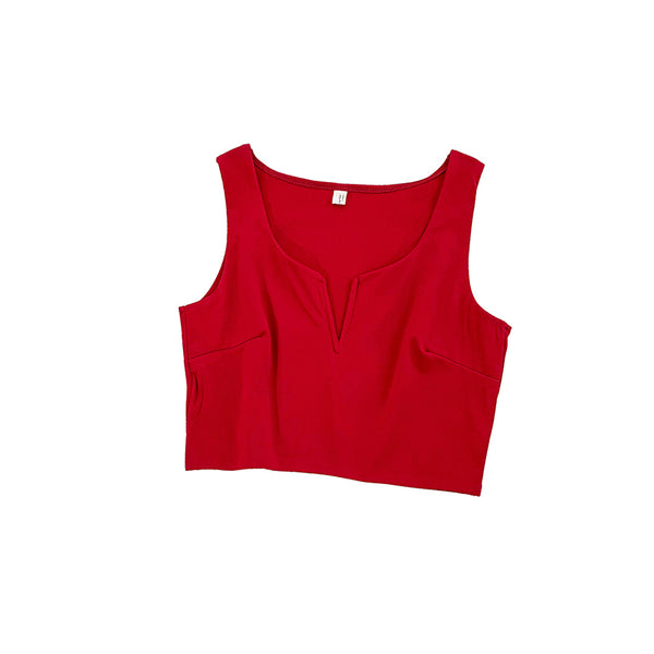 Sleeveless Short Crop Tops  - Zaida Fashions