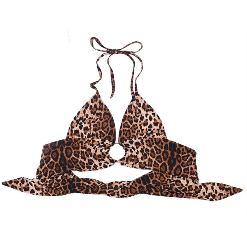 Leopard Print Velvet Tube Top Crop Tops  - Zaida Fashions