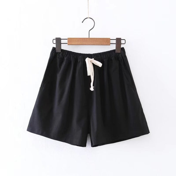 Summer Casual Cotton High Waist shorts  - Zaida Fashions