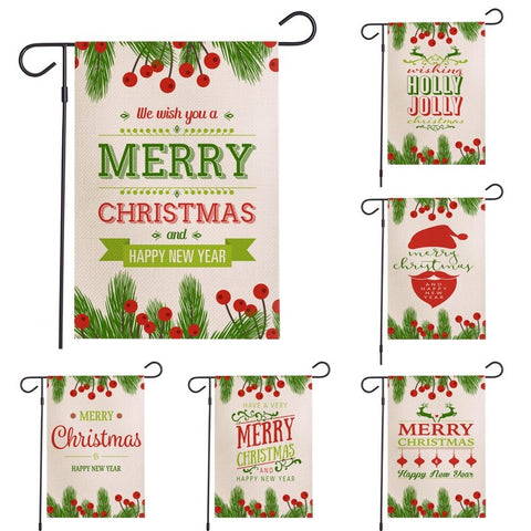 Christmas Garden Flag Waterproof Banner Decorations