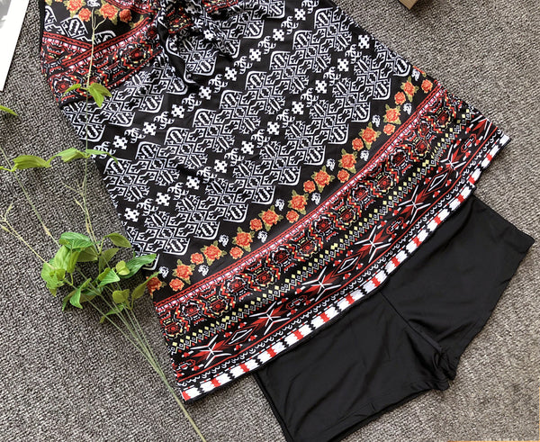 Two-Piece Black Modest Swimwear  - Zaida Fashions