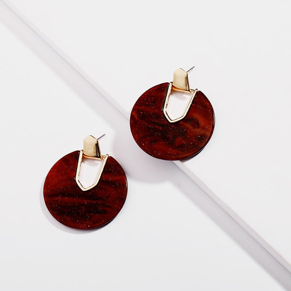 Round Fashion Earrings  - Zaida Fashions
