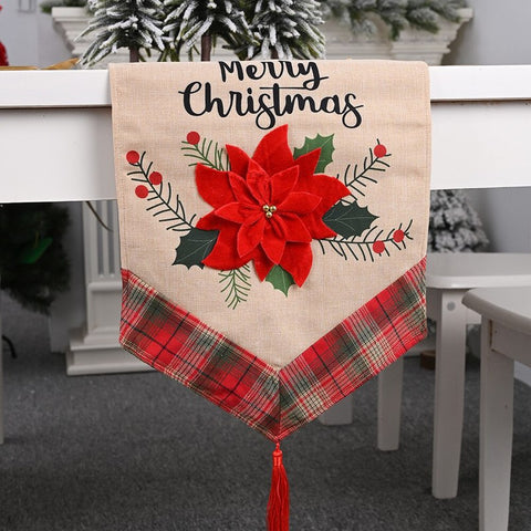 Christmas Table Runner Cover Decorations