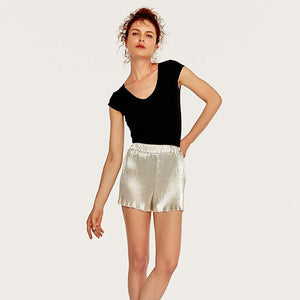 Summer High Waist Pleated Shorts  - Zaida Fashions