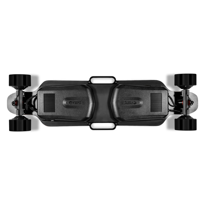 Meepo Board AWD-Pro - Under Deck View of AWD ESC, Battery, Handles, Wheels
