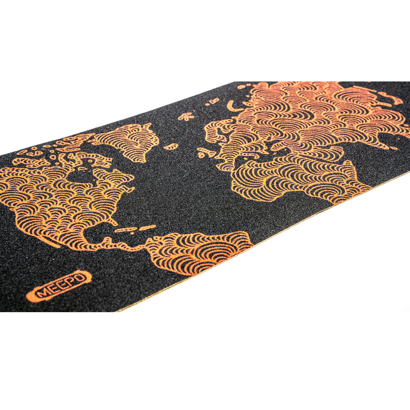 Meepo Mini 2 Electric Skateboard Top View of Grip Tape - Our Best Selling Shortboard Electric Skateboard