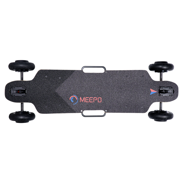 Meepo City Rider - Top View of Deck to See Handles, Wheels, Grip Tape