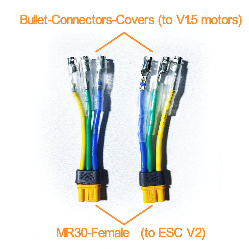 MR30 to Bullet connector adaptor