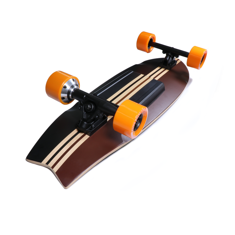 Electric Skateboard Shortboard Campus 2 by Meepo Under Deck View from Kick Tail