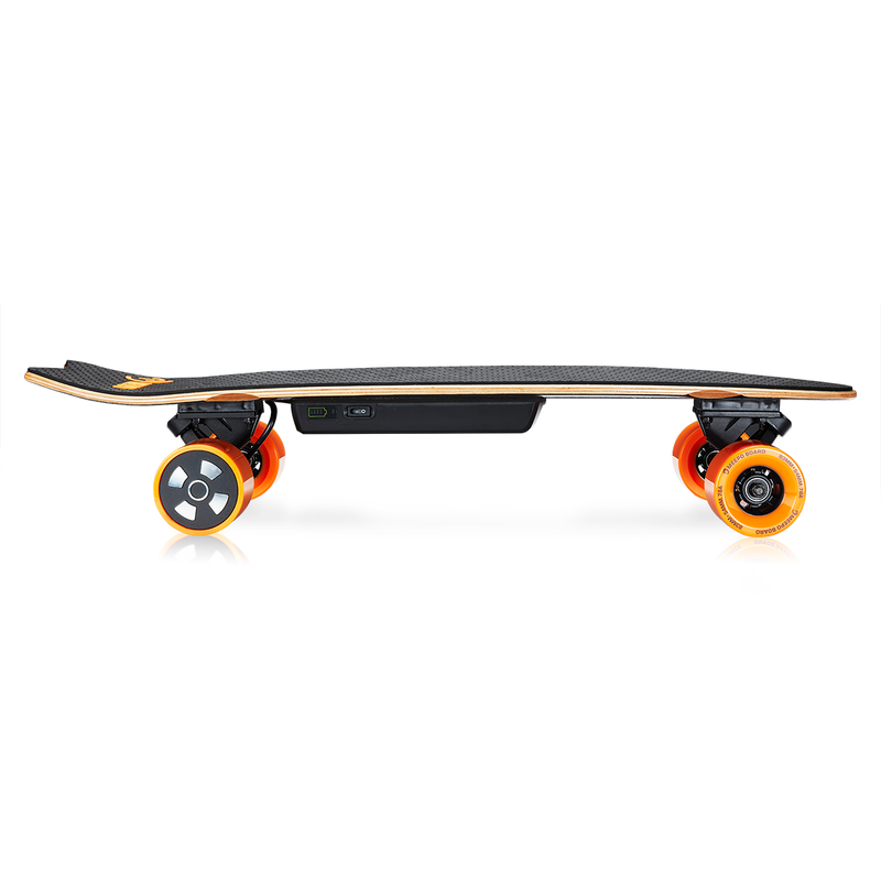 Campus 2 Meepo Electric Skateboard Side View - Electric Skateboard Wheels View
