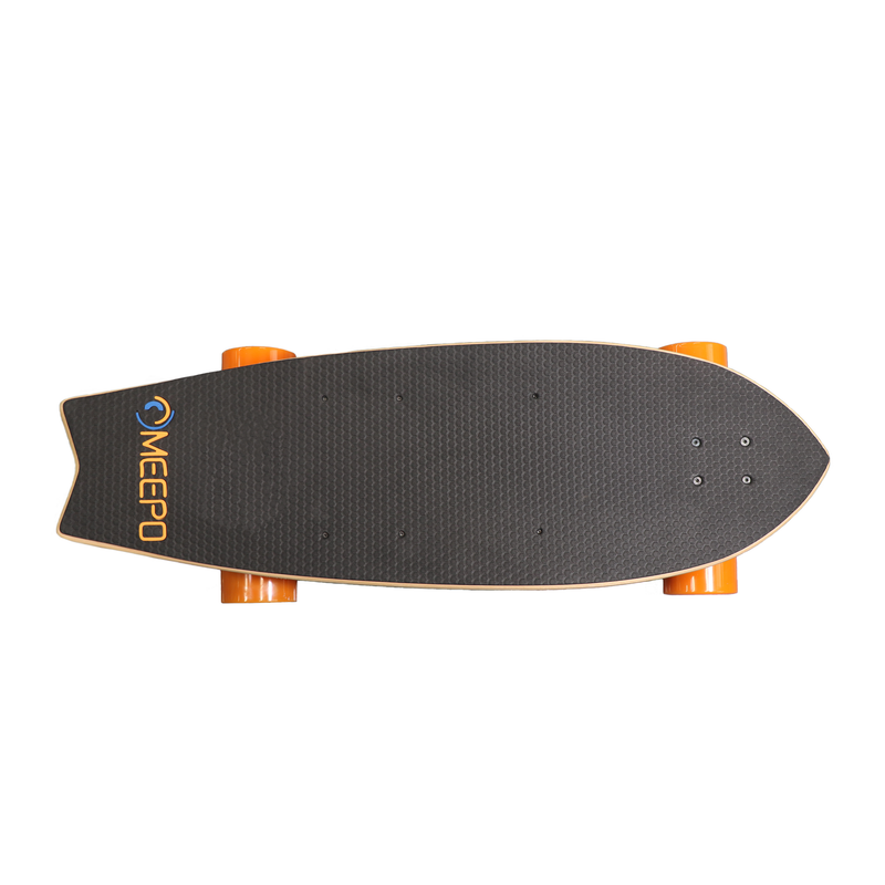 Meepo Board Campus 2 Electric Skateboard - Top View - Shortboard with Kick Tail
