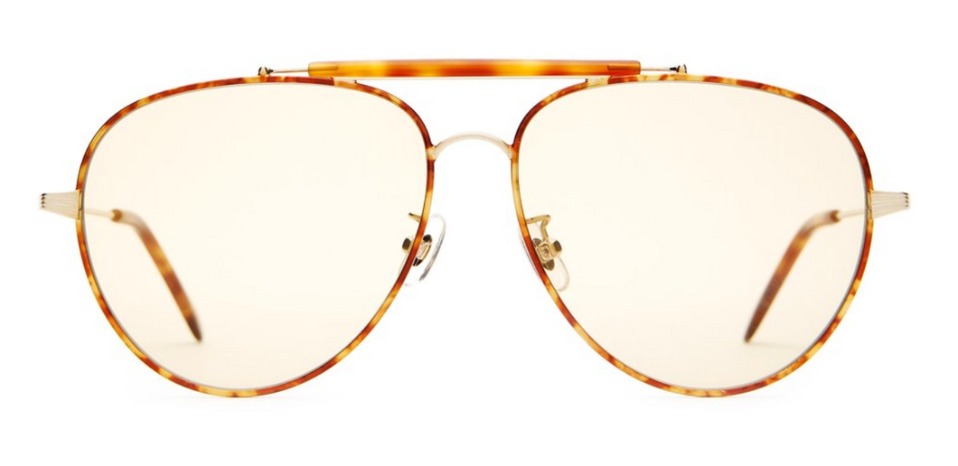 THE ROAD CRUE - BRUSHED GOLD & HAVANA TORT/GOLD TINT