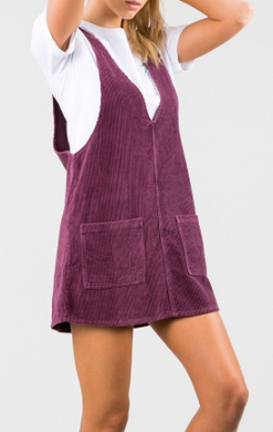 MAZE PINAFORE DRESS - BLK CHERRY