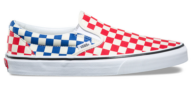 CHECKERBOARD SLIP-ON - RED/BLU