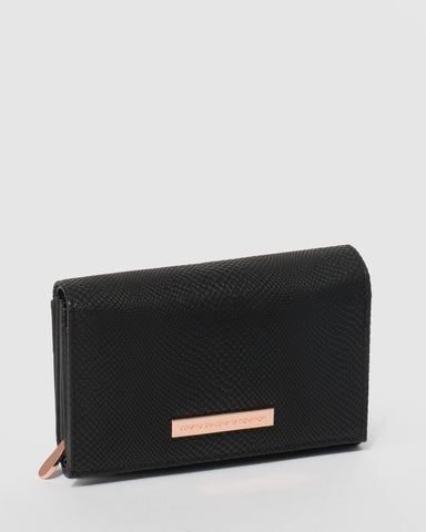 Black Dana Multi Pocket Wallet