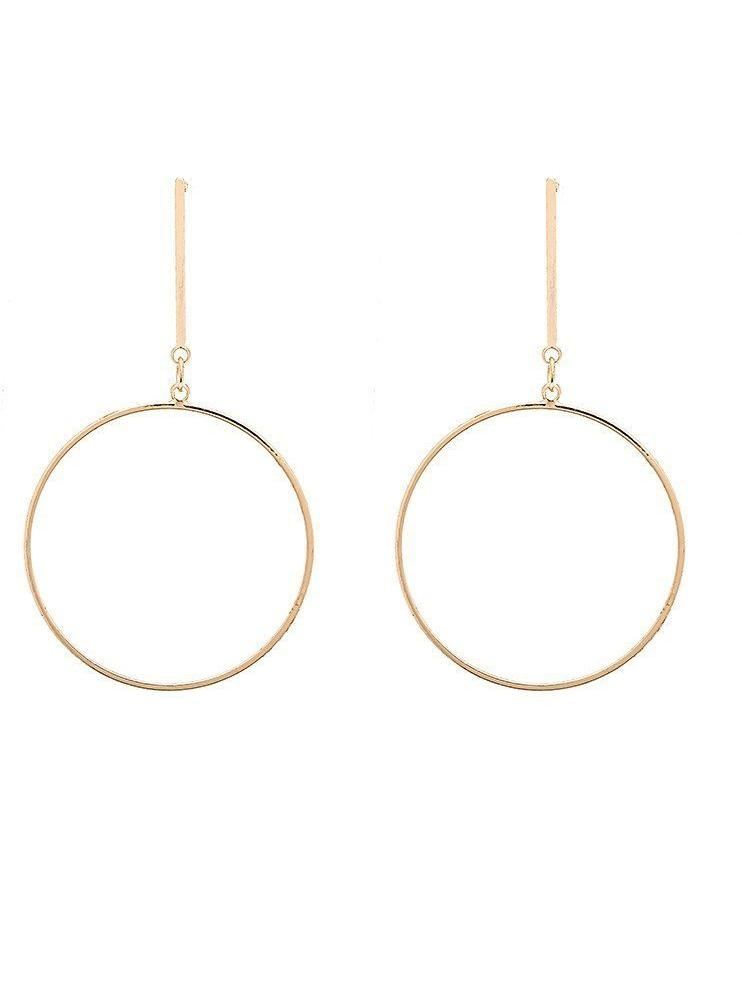 Fine Circle On Bar Earring