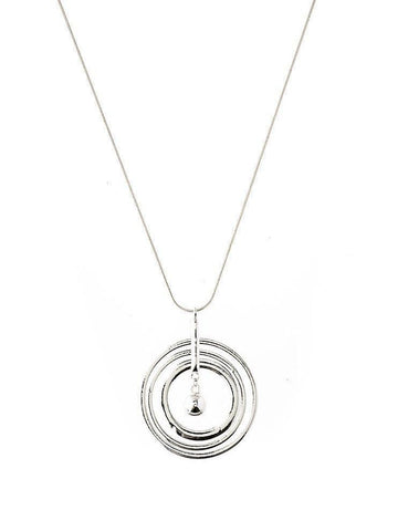 Circles Pendant Long Necklace