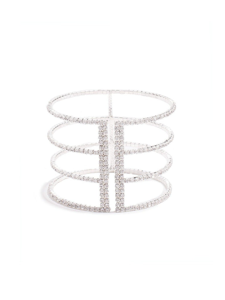 Flexible Diamante Cup Chain Wristwear