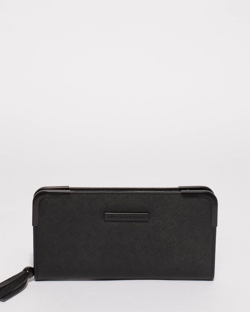 Black Claire Zip Wallet