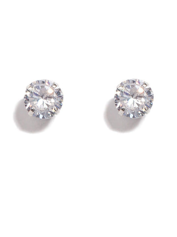 4 Claw 10Mm Diamante Stud Earrings