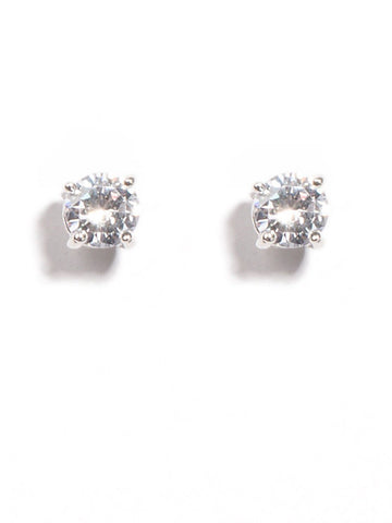 4 Claw 6Mm Diamante Stud Earrings
